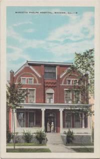 Marietta Phelps Hospital, Macomb Il, 1910s-1920s unused Postcard