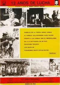 "Original poster: ""12 Años de Lucha"" by [GRAPHICS - LATIN AMERICA] Fuerzas Populares de Liberación Farabundo Martí [FPL] - 1982 - from Lorne Bair Rare Books and Biblio.co.uk"