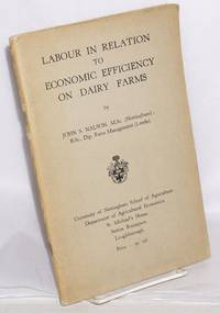 image of Labour in Relation to Economic Efficiency on Dairy Farms