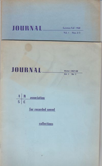 New York: Association for Recorded Sound Collections. 1967 / 1968. First Printing. Periodical. The f...
