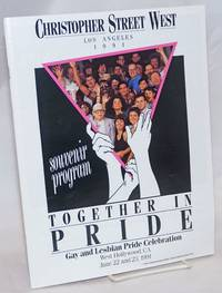 Christopher Street West/Los Angeles 1991 Together in Pride souvenir program gay and Lesbian Pride Celebration, West Hollywood, CA, June 22 and 23, 1991