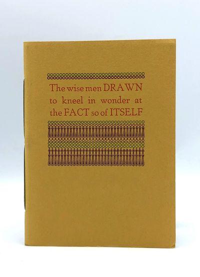 Los Angeles: Black Sparrow Press, 1968. Small 4to. Original printed wrappers. A fine copy. FIRST EDI...