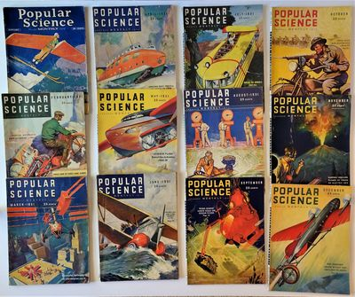 New York: Popular Science Publishing Company, 1931. 12 issues, the complete run for the year 1931. V...