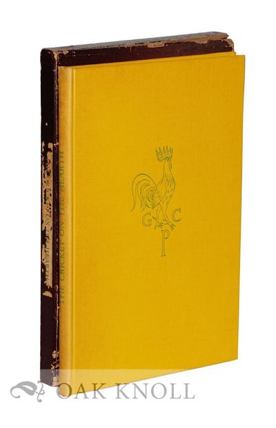 New York: The Limited Editions Club, 1933. bound in full yellow cloth with the Golden Cockerel Press...