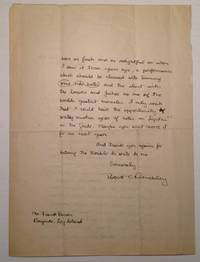 Autographed Letter Signed to actor Frank Bacon by  Robert (1889 - 1945) BENCHLEY - Signed - 1921 - from Argosy Book Store and Biblio.co.uk