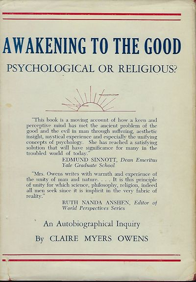 Boston, U.S.A.: The Christopher Publishing House, 1958. First Edition. Signed presentation by Owens ...