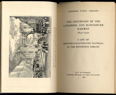 Liverpool: Libraries Museums and Arts Committee, 1930. First Edition. Hardcover. Very Good Condition...