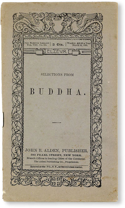 New York: John B. Alden, 1889. Pamphlet. One of hundreds if not thousands of nicely-produced but ine...
