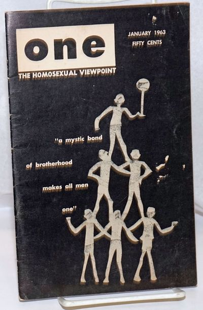 Los Angeles: One, Inc, 1963. Magazine. 32p. includes covers, 5.5x8.5 inches, fiction, articles, poet...