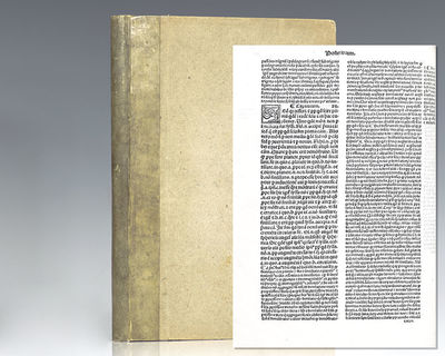 Venice: Gregorium de Gregorijs, 1514. Rare 16th century printing of Aristotle's Posterior Analytics;...