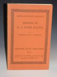 image of Memoir of R.A. Scott Macfied (Journal of the Gypsy Lore Society, Third Series, Vol. XIV,  Special Number)