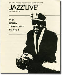"""Jazz """"Live"""" at the Afro-American Museum presents The Henry Threadgill Sextet Saturday, August 29, 1987 (Original Flier)"""