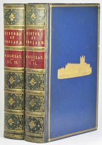 image of THE HISTORY OF ENGLAND, from the Accession of James the Second. [Four volumes in two, complete. Cheltenham College Prize Binding.]