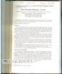 1991. later pamphlet binder. 8vo. later pamphlet binder. pp.99-169. Removed from Allionia 30. A bibl...