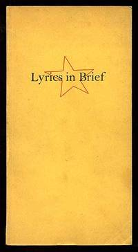 New York: Printed at the Powgen Press, 1938. Softcover. Very Good. First edition. Tall thin octavo. ...