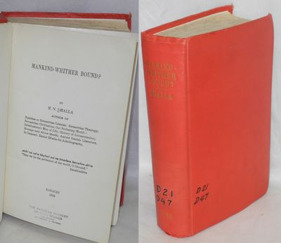Karachi: the author, 1950. Hardcover. 25, 567p., hardcover, ex-lib with accession numbers on cover a...