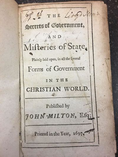 London: John Milton, 1697. Reissue. Hardcover. Octavo, 238 pages; 3/4 bound in brown calf, paneled s...