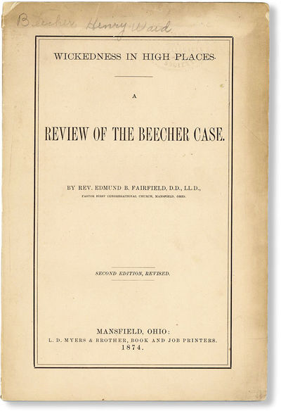 Mansfield, OH: L.D. Myers & Brother, 1874. Second Edition, Revised. Octavo (24cm.); publisher's peac...