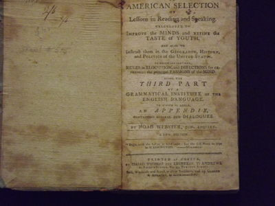 16mo, leather spine with blue paper covered boards, 240 pp .Lacks endpapers, binding worn and somewh...