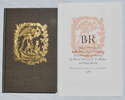 San Francisco: CA: Book Club of California, 1981. First Edition. Hardcover. Like New/Fine. Pall Bohn...