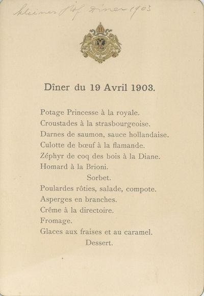 , 1911. Five pieces, various sizes and dates. An invitation, to Carl of Trautmannsdorf, and four oth...