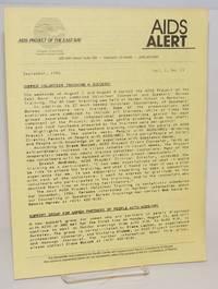 AIDS Alert [newsletter] vol. 1, #11, September, 1986