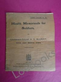 HEALTH MEMORANDA FOR SOLDIERS