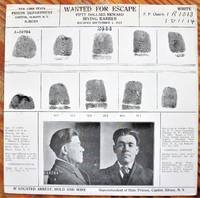 Wanted for Escape. Fifty Dollars Reward, Irving Barber, Escaped September 1, 1924