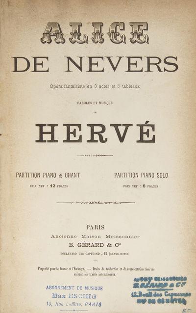 Paris: E. Gerard & Cie. (Ancienne Maison Meissonnier) , 1875. Large octavo. Full dark brown cloth, t...