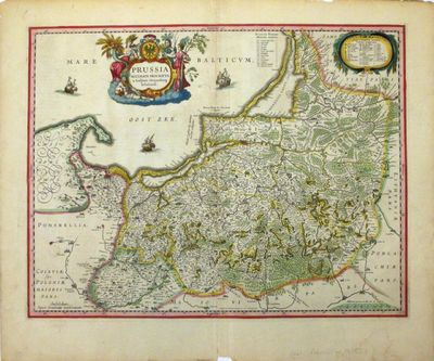 Amsterdam: Jansson, J.. unbound. Map. Hand colored engraving. Image measures 15