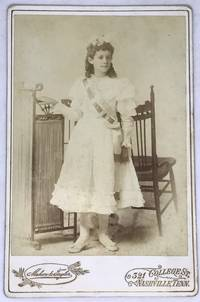 [NASHVILLE] [CHILD LABOR] Cabinet Card depicting a young woman wearing Union sash Mill Hand's Union No. 766