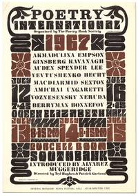 [Broadside]: Poetry International 1967: Organized by the Poetry Book Society