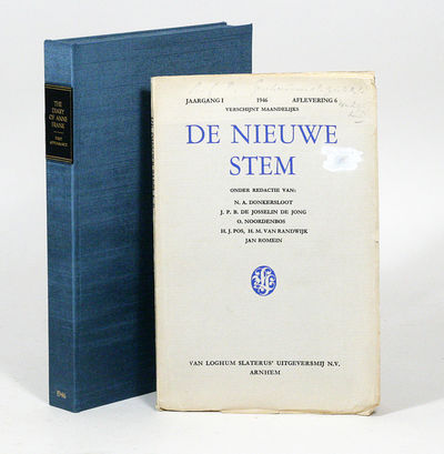 Amsterdam: Van Loghum Slaterus, 1946. First edition. Original wrappers. Good. THE VERY RARE FIRST AP...