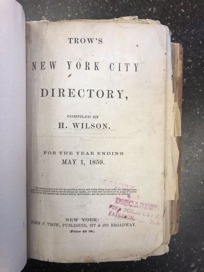 New York: John F. Trow, 1859. First Edition. Hardcover. Octavo, 885/32/65 pages; G-; quarter rebound...