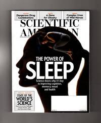Scientific American / October, 2015 - The Power of Sleep. Blank Box cover. Sleep; Simulating the Brain; Neutrinos; Fat Gene; Ancient Astronomy; Wild Horses; Murder Antidote; Big Science; World Science Leaders