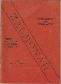 Zalmonah. Prologue and four acts. From Book of Mormon history