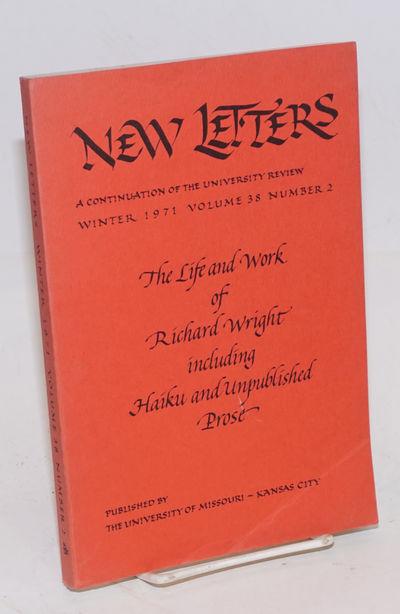 Kansas City: University of Missouri, 1971. Paperback. 204p., poems, photos, fiction, essays, critici...