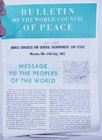 image of Bulletin of the World council of Peace 1962 Aug