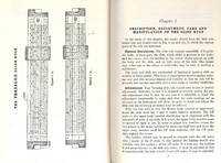 image of The Versalog slide rule : an introduction manual. [Square root and squares, cube root and cubes -- Operations involving powers, reciprocals, exponential equations, logarithms. -- Trigonometric functions -- Civil engineering problems -- Mechanical, e