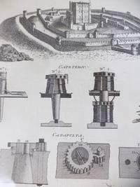 image of Four 1773 Georgian Prints: Fortification Plates CXXVII, CXCVII, CXCVIII, CXCIX