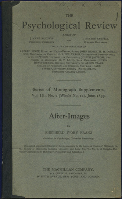 New York: Macmillan, 1899. First edition. Quarter cloth over paper covered boards. A very good exlib...