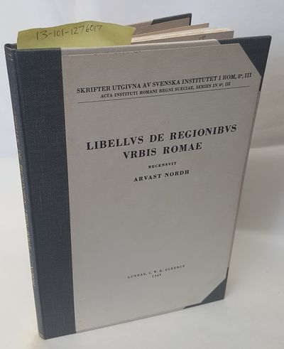 Lund: C. W. K. Gleerup, 1949. Hardcover. Text in Latin; Thin octavo; VG- hardcover. Grey spine with ...