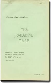 image of The Paradine Case (Post-production script for the 1961 re-release of the 1947 film)