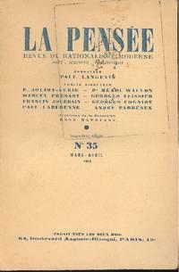 La pensée. Mars /Avril 1951 - B. 35