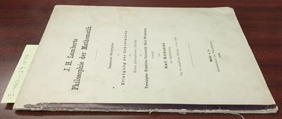 Halle a.S.: Buchdruckerei des Waisenhauses, 1909. First Edition. Softcover. 8vo., incomplete, pages ...