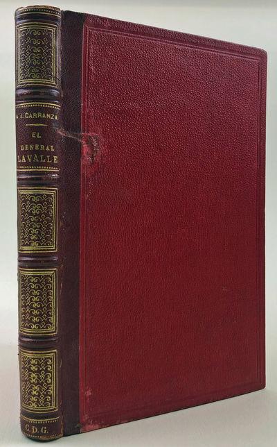 Buenos Aires: Imprenta del Pueblo, 1880. Quarter brown morocco over red pebbled cloth, four raised b...