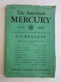 """The American Mercury:  Volume XX, Number 79, July 1930 (with """"Honor,"""" by William Faulkner)"""