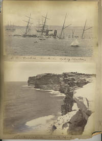 """S. S. Austral Sunk in Sydney Harbor"" [with] 3 Bayliss images: 'Rocks Outside South Head', ""Barrys Bay"", St. Phillips Church, Church Hill"".  Albumen photographs"
