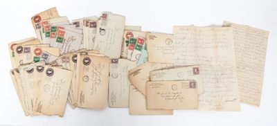 New Rochelle and New York, 1918. Collection of 44 handwritten letters by