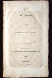 Constitution of the State of Alabama: December 6, 1819